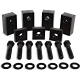 Jeep Wrangler JKU Black Delrin Plastic Rear Seat Recline Kit with Bolts and Washers