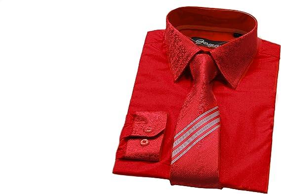 Gorgeous Collection Niños Ocasión Especial Smart Camiseta, Patterned Corbata con a Juego Puños