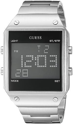 04266c14785a GUESS reloj para hombre modelo U0596G1 con pantalla digital plateado ...
