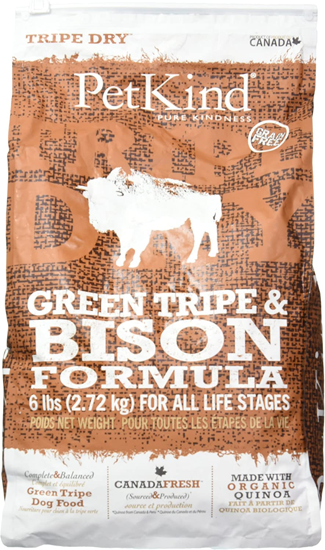 Petkind Green Tripe & Bison Dry Dog Food 6 Lb