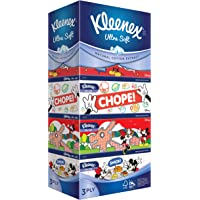 Kleenex Ultra Soft Facial Tissue 3-Ply Disney Limited Edition. Design 2, 90ct (Pack of 5)