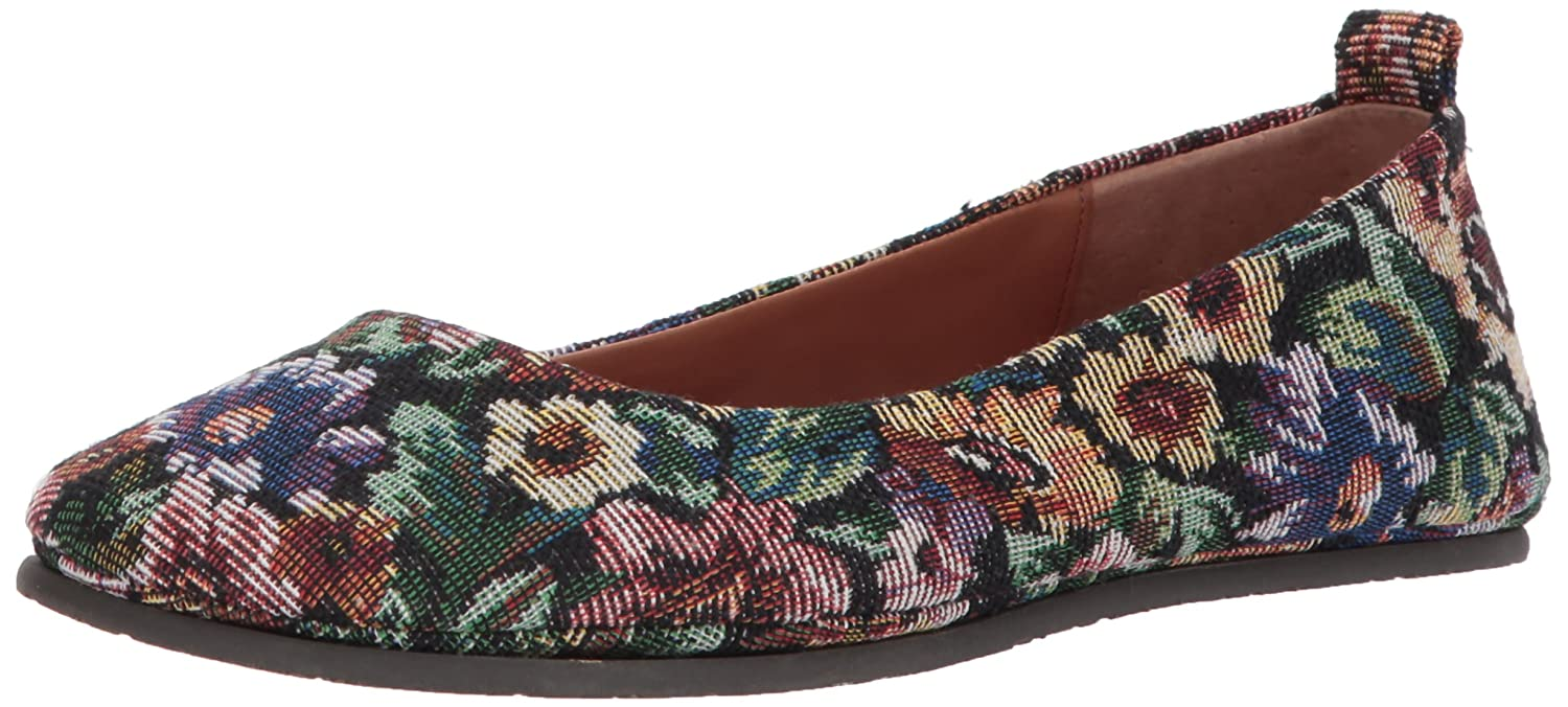 Gentle Souls by Kenneth Cole Women's Dana Round Toe Ballet Flat Leather- Embossed Ballet Flat B01N4RFA37 5.5 B(M) US|Floral