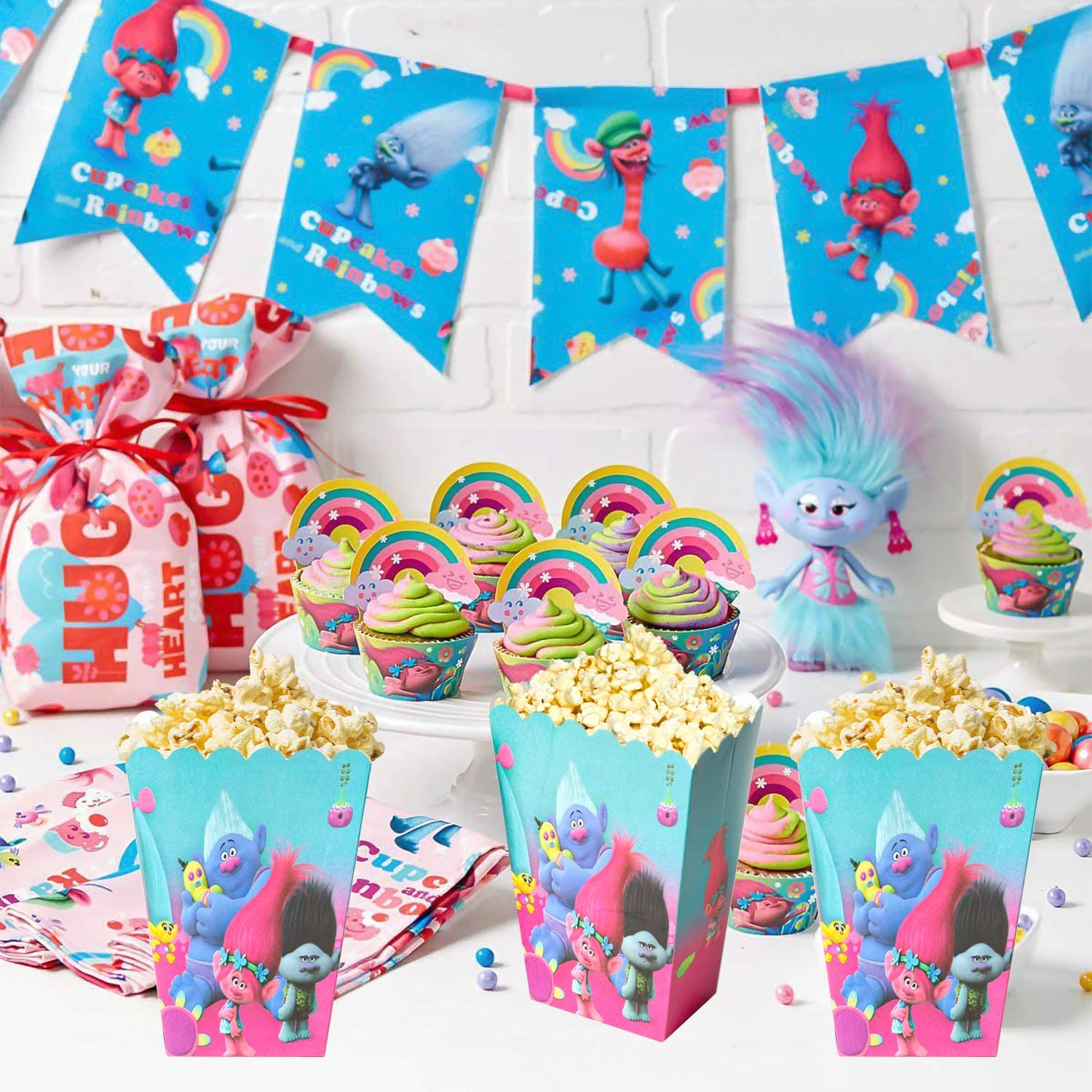 30 Pcs Blippi Party Popcorn Boxes Blippi Party Supplies Favors Candy Container for Birthday Theater Themed Parties Movie Nights Carnivals