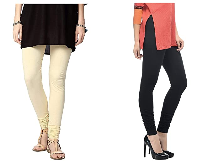 f3f518a8e Image Unavailable. Image not available for. Colour: Roop Trading Co girls  cotton material, churidar full length legging style,cream-black