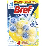 Bref Power Active Lemon 4in1, In Bowl Toilet Cleaner, 2x50g, 2 pack