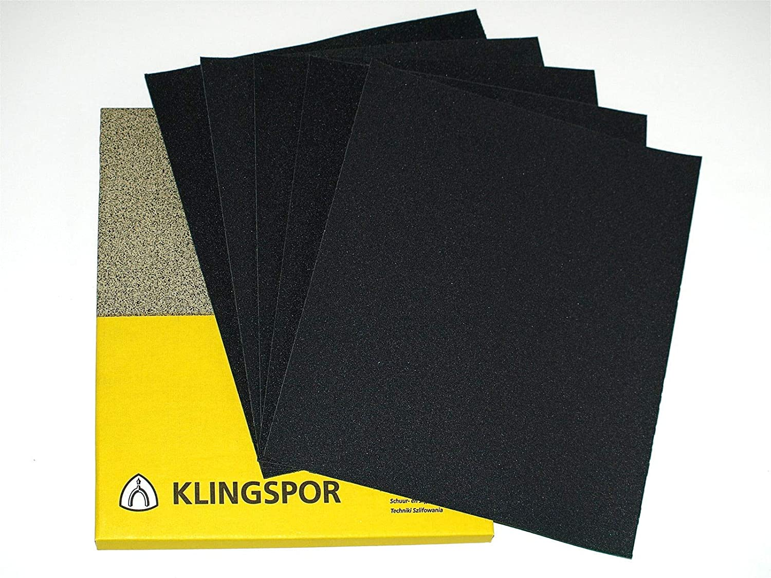 Wet and Dry Sandpaper 230 x 280mm Mixed Assorted GRIT 5 Sheets 1x 400 600 800 1000 1200 GRIT