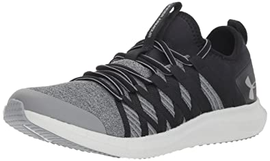 0fe8deb150f1 Under Armour Girls  Grade School Infinity TS Sneaker Black (001) Steel 3.5