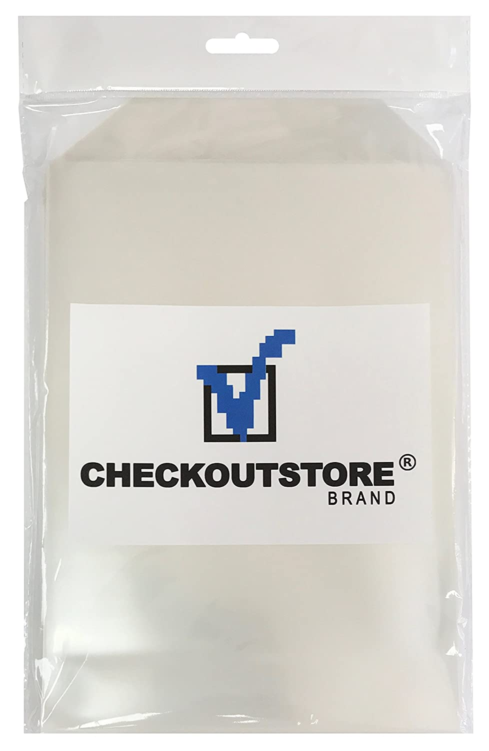 100 CheckOutStore Clear Storage Pockets (6 3/4 x 9 1/2) CPPLW100