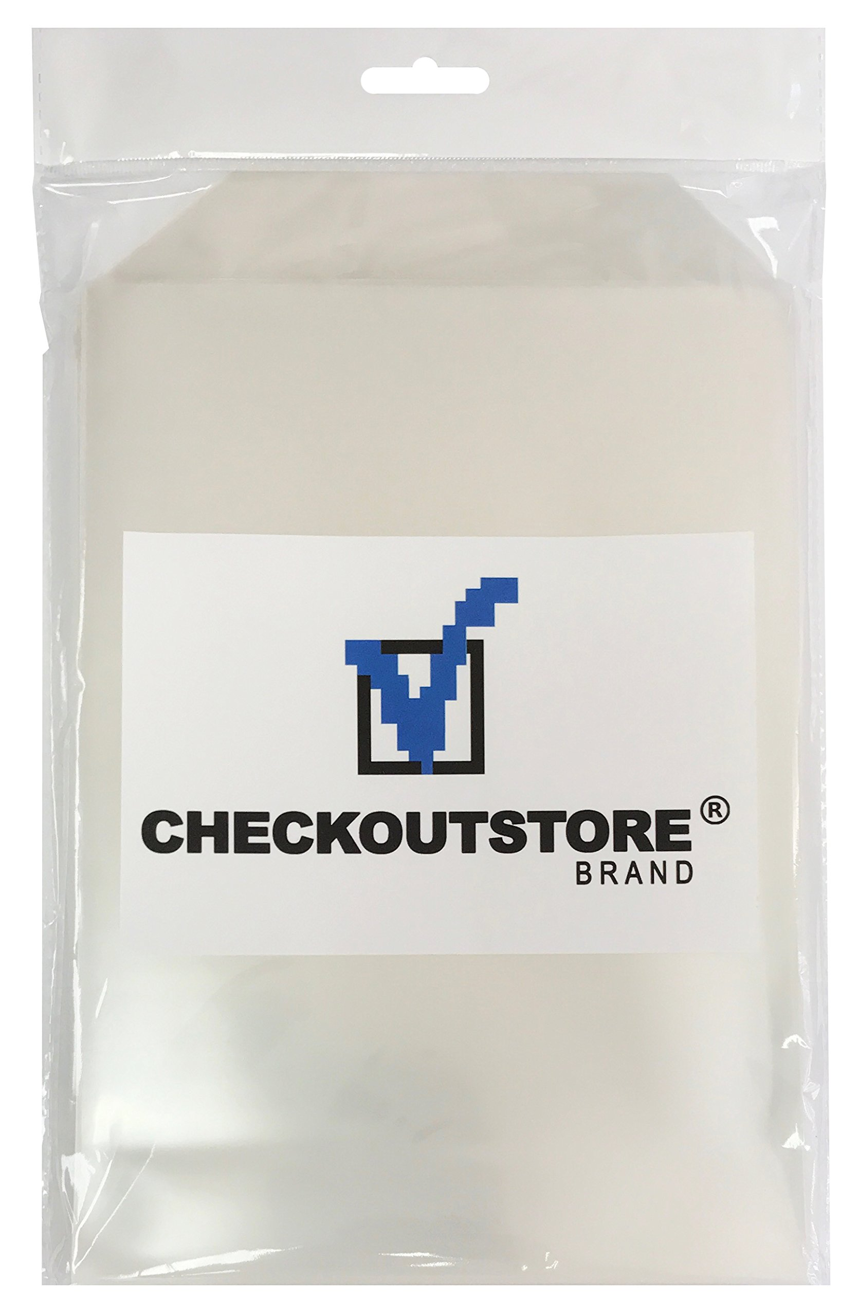 100 CheckOutStore Clear Storage Pockets (6 3/4 x 9 1/2)
