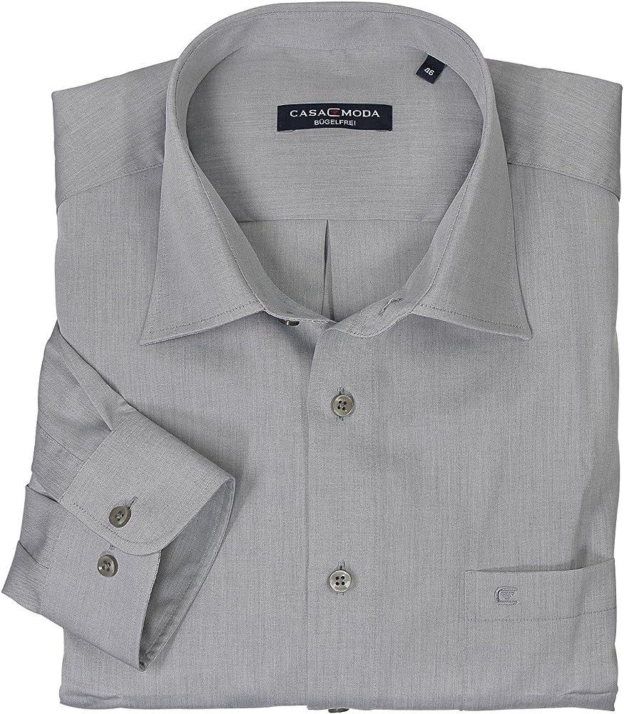 Gris Camisa de Casamoda Tallas extra grandes hasta 7XL - algodón, gris, 100% algodón bordado de logotipo.\nmaterial\xa0100% algodón\ncolor, hombre, 5XL: Amazon.es: Ropa y accesorios