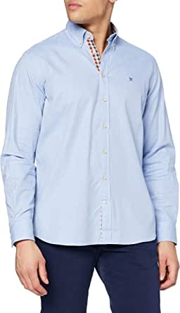 Hackett London Brushed Flannel Camisa para Hombre