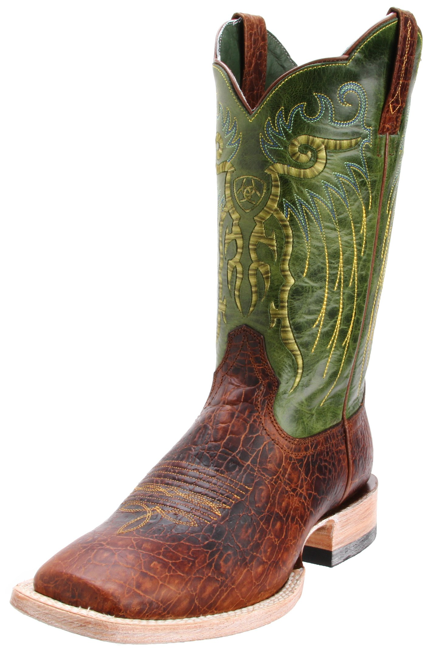 Ariat Men's Mesteno Western Cowboy Boot, Adobe Clay/Neon Lime, 13 M US