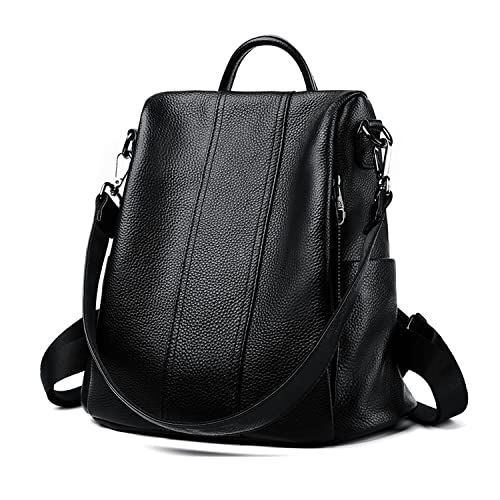 Backpacks for Women Large Capacity Leather Womens Backpack School Bag ANTI- THEFT Design two ways carry Shoulder Bags  Amazon.co.uk  Shoes   Bags ca3f4812ac77f