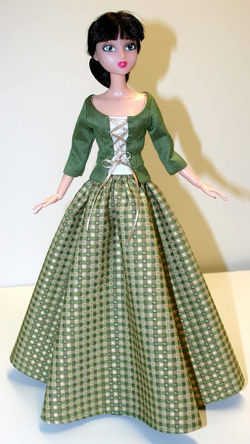 "Outlander Claire Dress Doll Clothes Sewing Pattern 15.75/"" City Girl  Tonner"