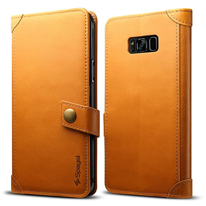 pretty nice 579cf e418a Spaysi Samsung Galaxy S8 Plus Wallet Case Italian Genuine Leather Handmade  Case S8 Plus Card Holder Case Vintage S8 Plus Flip Cover Case Book Style S8  ...
