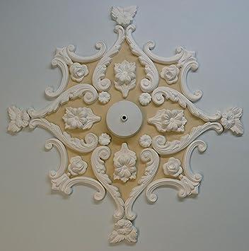 Plâtre Rosace de plafond/Médaillon, style victorien: Amazon.fr ...