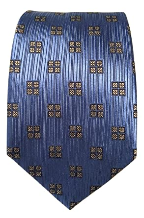 acbeacdc New Men's Ermenegildo Zegna Blue Geometric Medallion Pattern Italian ...