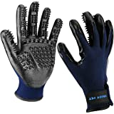 ENJOY PET PET Grooming Glove Hair Removal Mitt, Work as Deshedding, Bathing, Massaging Glove Brush, Effective for Long and Short Hair Dogs, Cats, Horse (One Pair) (Blue)
