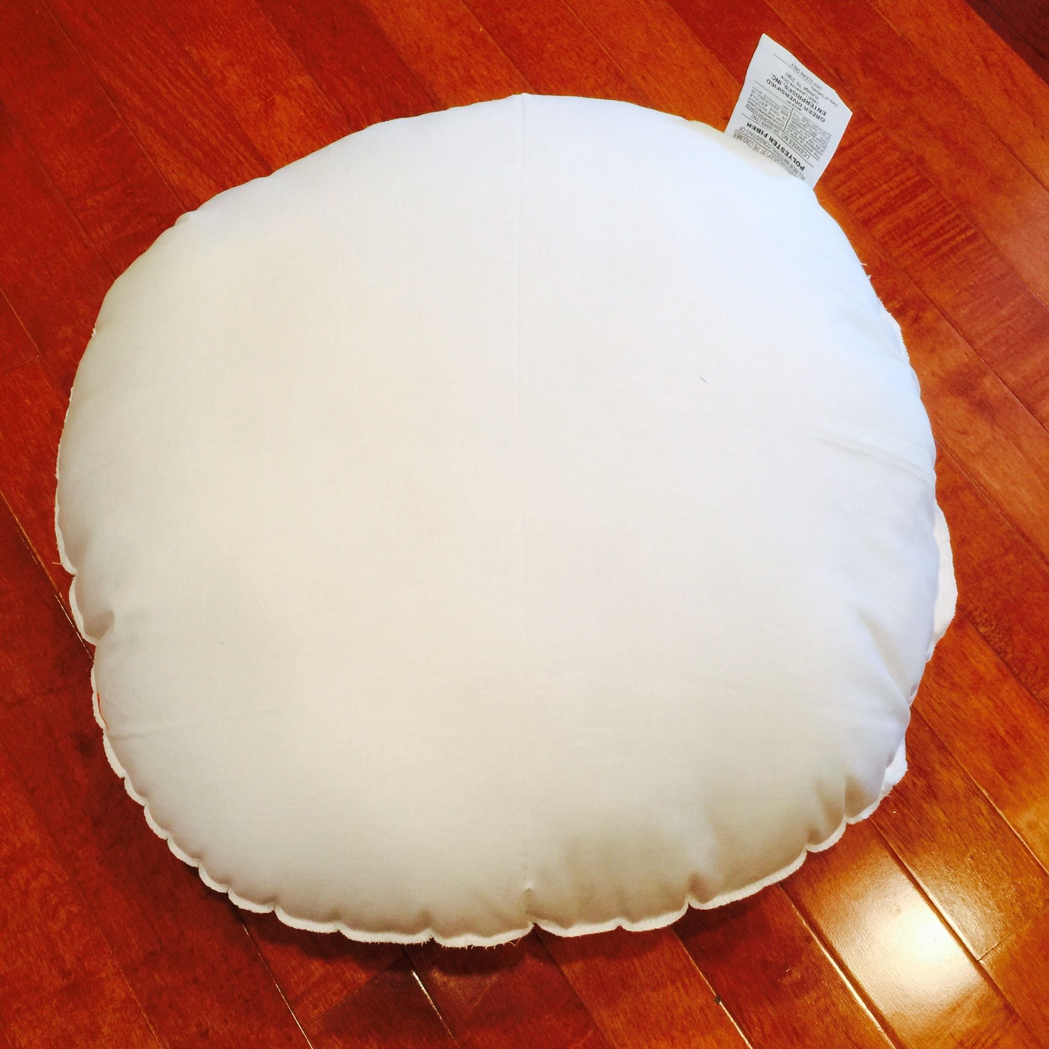 Round Polyester Woven Pillow Form - 41 by Pillow Cubes
