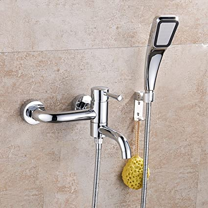 Square Booster Shower Set Triple Mixed Valve Concealed - - Amazon.com
