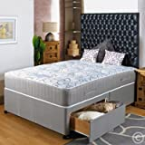 "Hf4You 3Ft 6"" Large Single Divan Bed Visco - 2 Drawers - Same Side - No Headboard"
