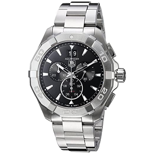 TAG HEUER RELOJ DE HOMBRE CUARZO 43MM CORREA Y CAJA DE ACERO CAY1110.BA0927: Amazon.es: Relojes