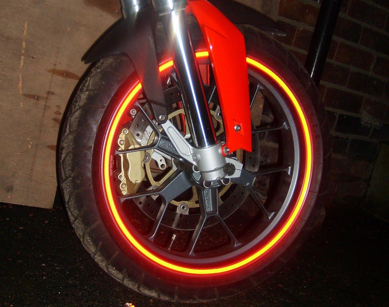 MOGLO Reflective Motorbike (& Car) Wheel Rim Stickers/tape fits 16-20' MOGLO REFLECTIVES MG013