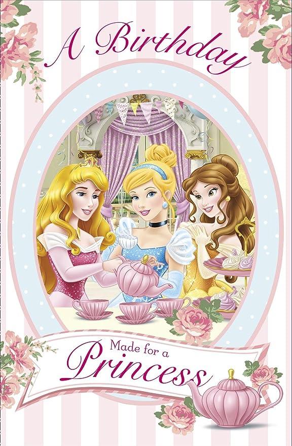 Tarjeta de felicitación de cumpleaños de princesa Disney ...