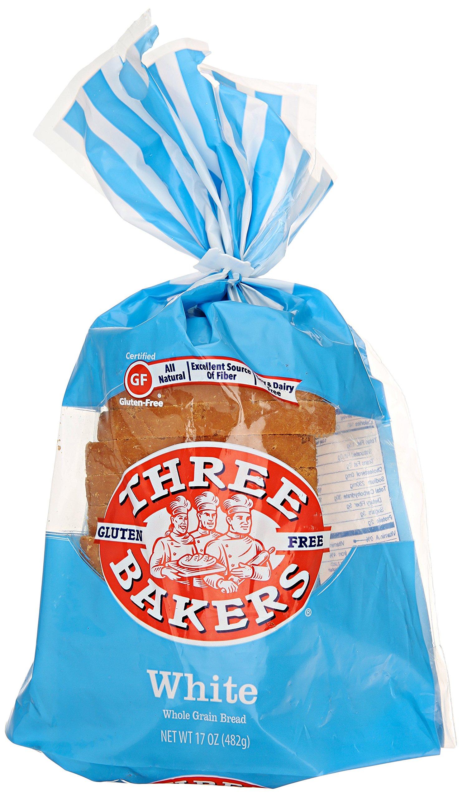 Three Bakers, Sliced Bread, White Whole Grain, 17 oz (frozen)