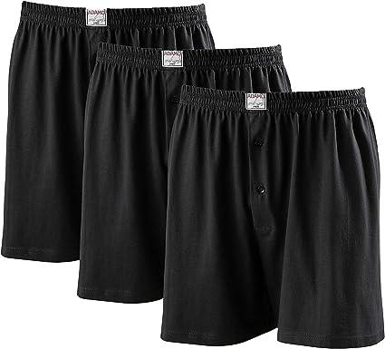 ADAMO Herren Boxershort Übergröße 8-20 schwarz 3er Pack boxershorts Unterwäsche