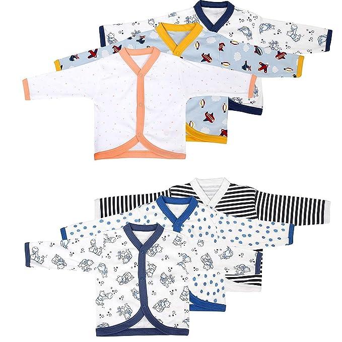 8d6e11d23 EIO® New Born Baby Boy Girls Cotton Front Open Full Sleeves Vest ...