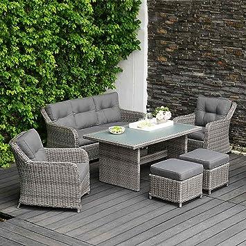 Amazonde Outliv Dining Lounge Kalibo Loungemöbel 6 Tlg Polyrattan