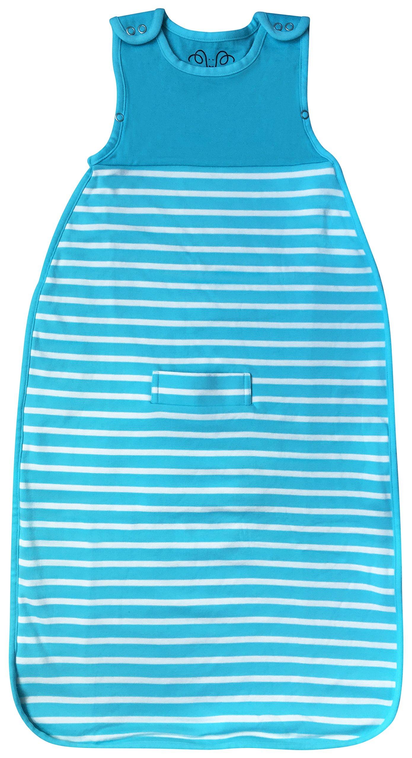 Antipodes Merino Baby Sleeping Bag – Infant and Toddler Sleep Bag Sack - Wool and Organic Cotton (Aqua)