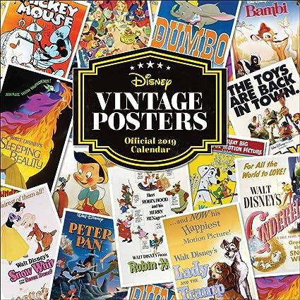 Calendario 2019 Póster dibujo Anime Disney Vintage - Disney ...