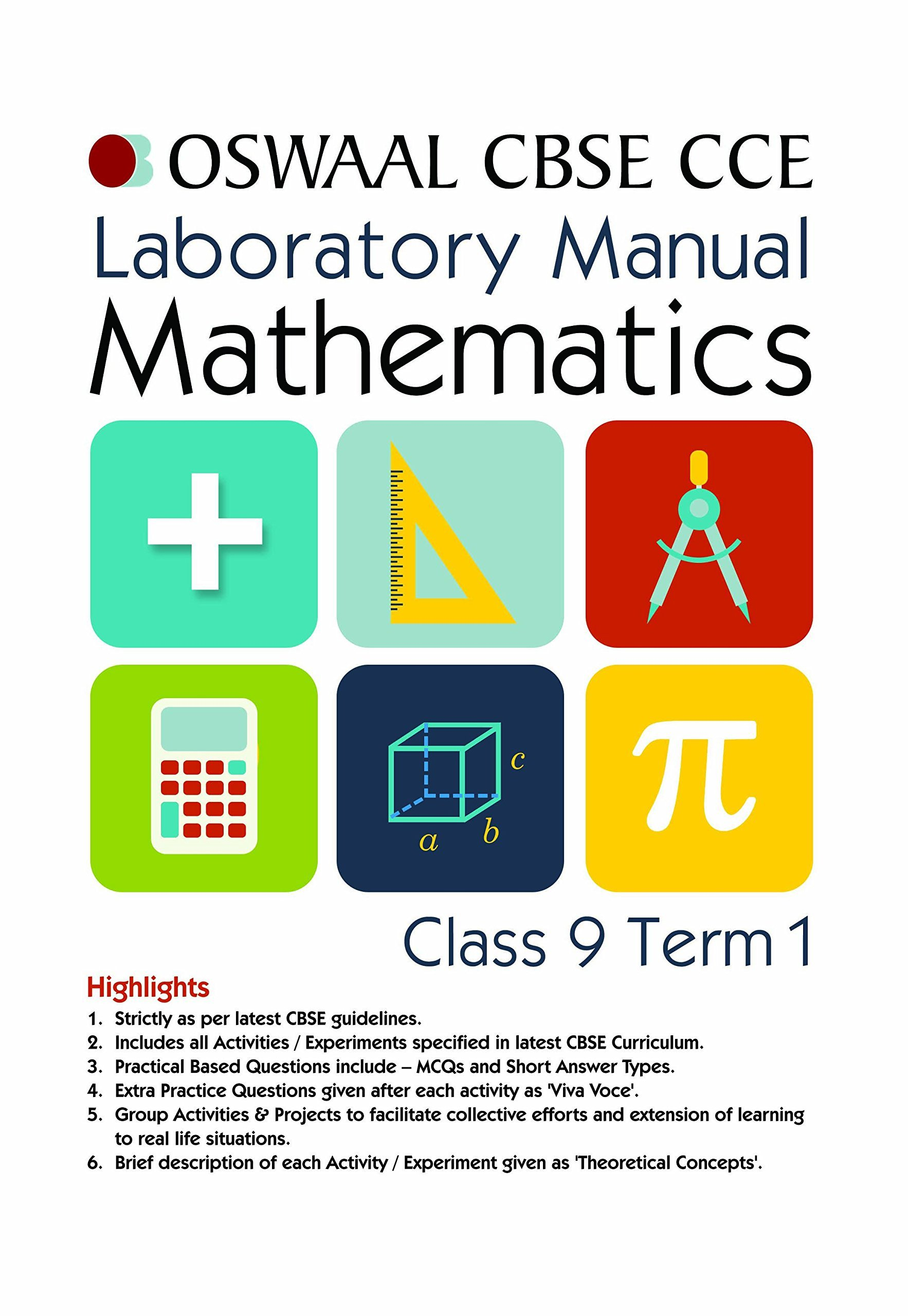 Buy Oswaal CBSE CCE Laboratory Manual for Class 9 Term I (April to  September) Mathematics (Old Edition) Book Online at Low Prices in India |  Oswaal CBSE CCE ...