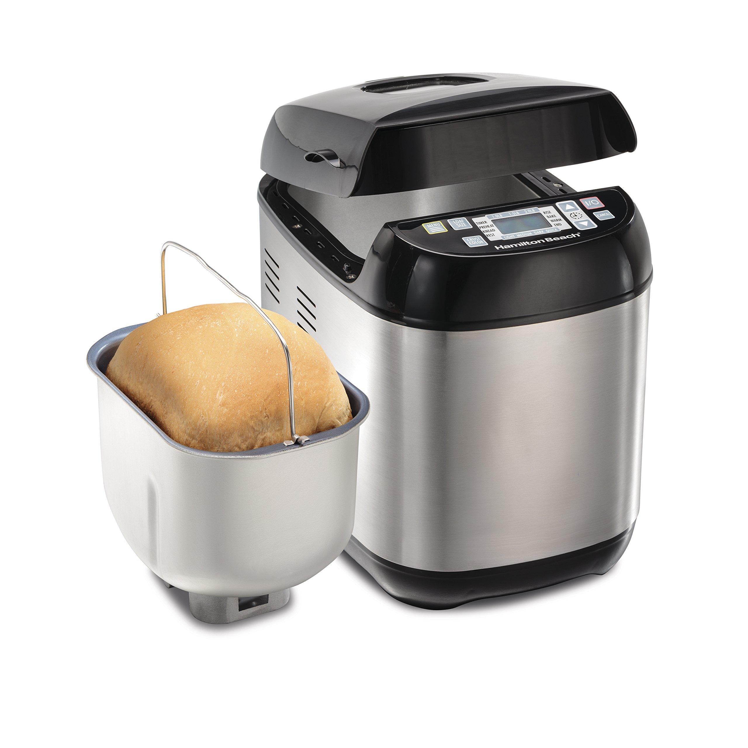Hamilton Beach 29885 Artisan and Gluten-Free Bread Maker, 2 lb Capacity, Stainless Steel by Hamilton Beach