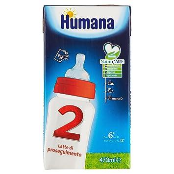 Lait Di Proseguimento Con Prebiotici Gos Humana 2 - 1 Slim Pack Da 470 Ml