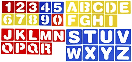 letter stencils 36 pack plastic alphabet number stencil templates hollow out drawing templates