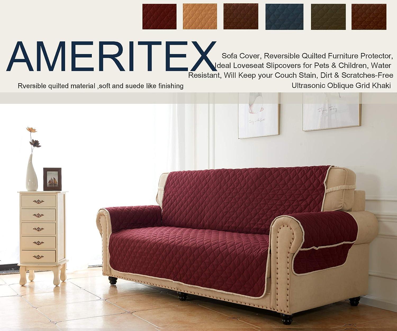 Amazon.com: Ameritex - Funda para sofá reversible, acolchada ...