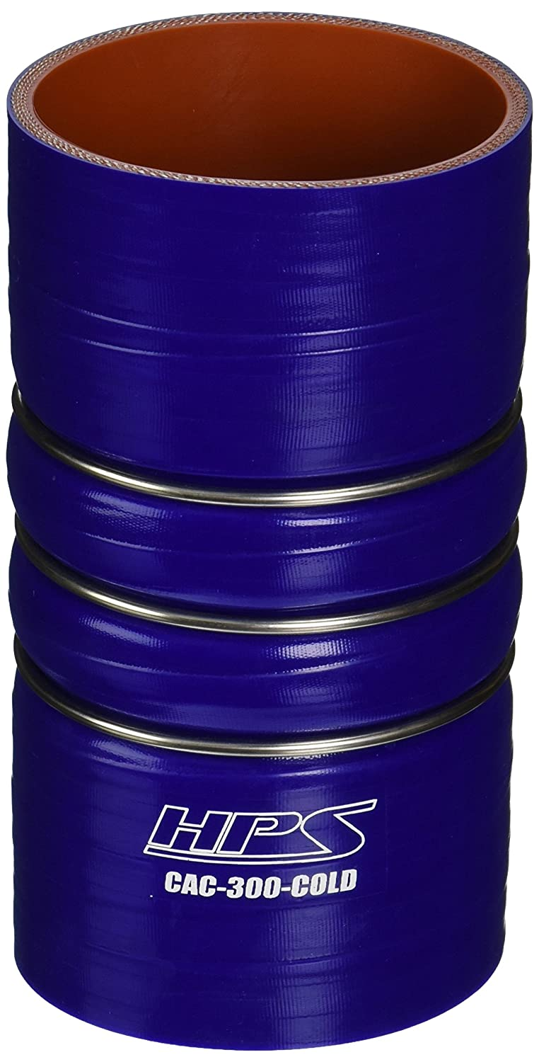 Blue 6 Length 100 PSI Maximum Pressure 3 ID HPS CAC-300-COLD Silicone High Temperature 4-ply Reinforced Charge Air Cooler CAC Hose Cold Side