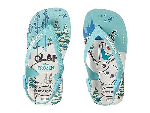 bf5f416994aa7 Havaianas Kids Baby Girl s Baby Frozen Flip Flops (Toddler) White Sandal  17 18