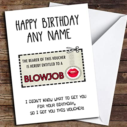 Amazon Funny Gift Voucher Rude For Him Personalized Birthday