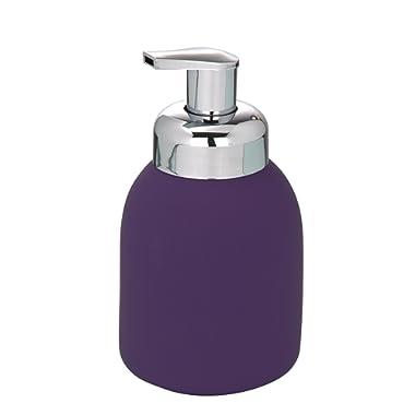 Wenko 20091100 Bottle Soft Touch Ceramic Foam Dispenser, 8.5 x 16cm, Purple