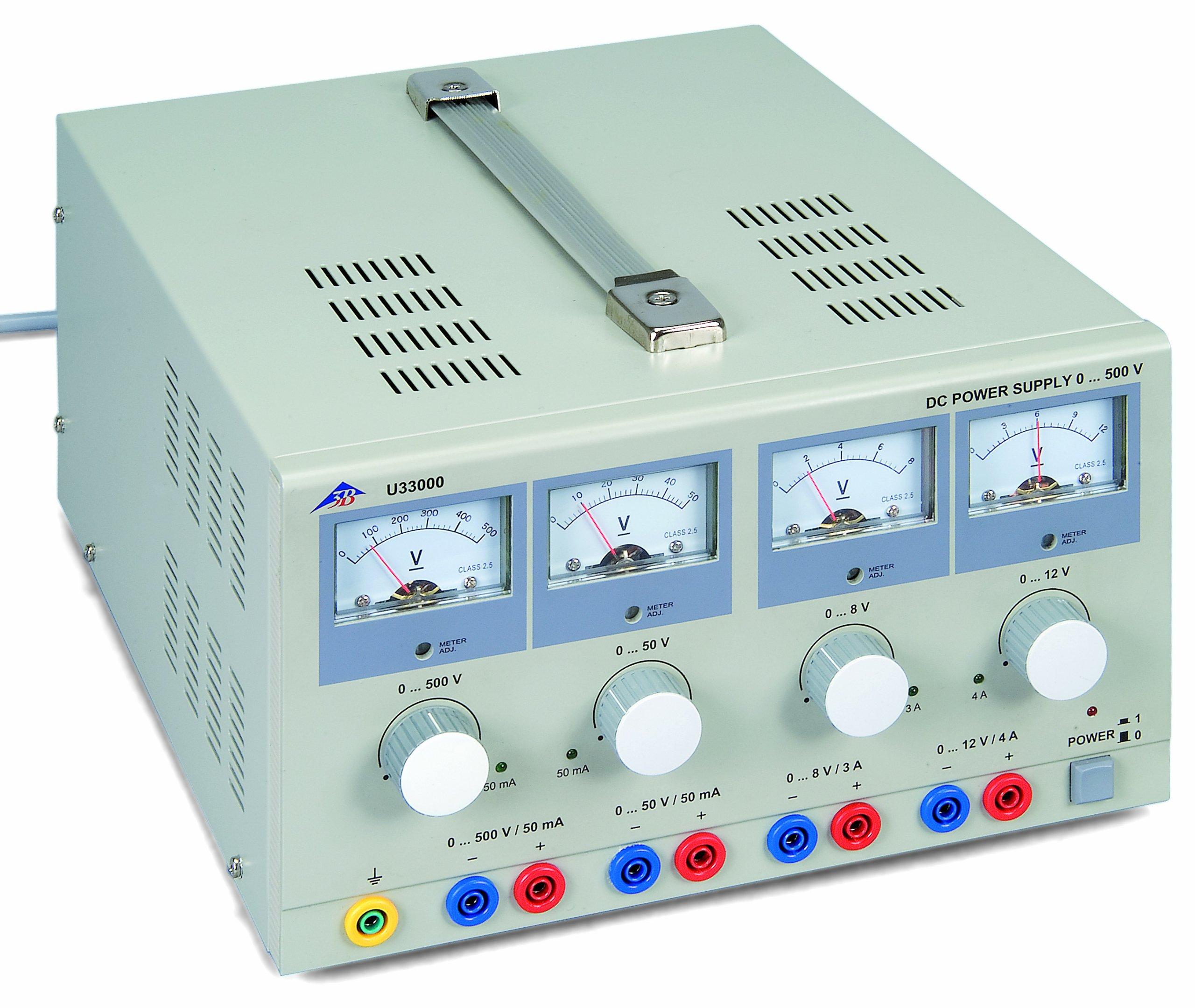 3B Scientific U33000-230 DC Power Supply, 0-500 VDC