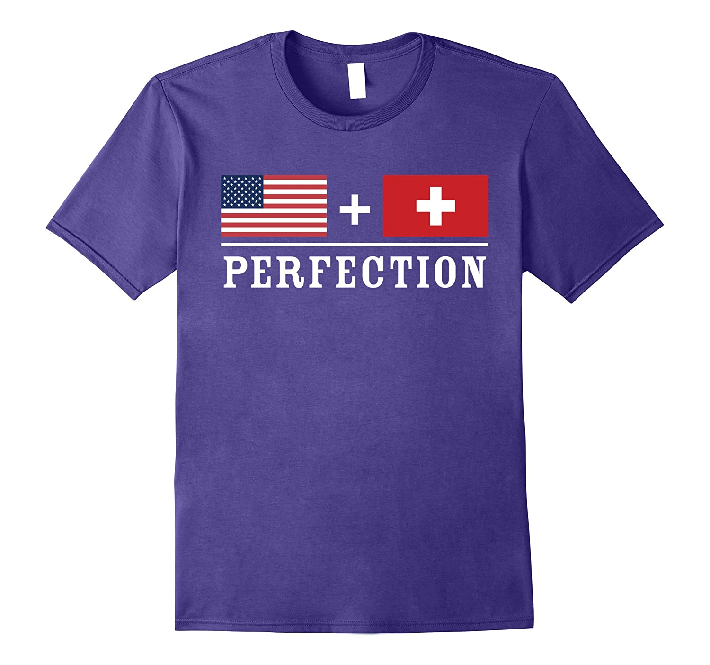 American  Swiss  Perfection Flag T-Shirt-Vaci