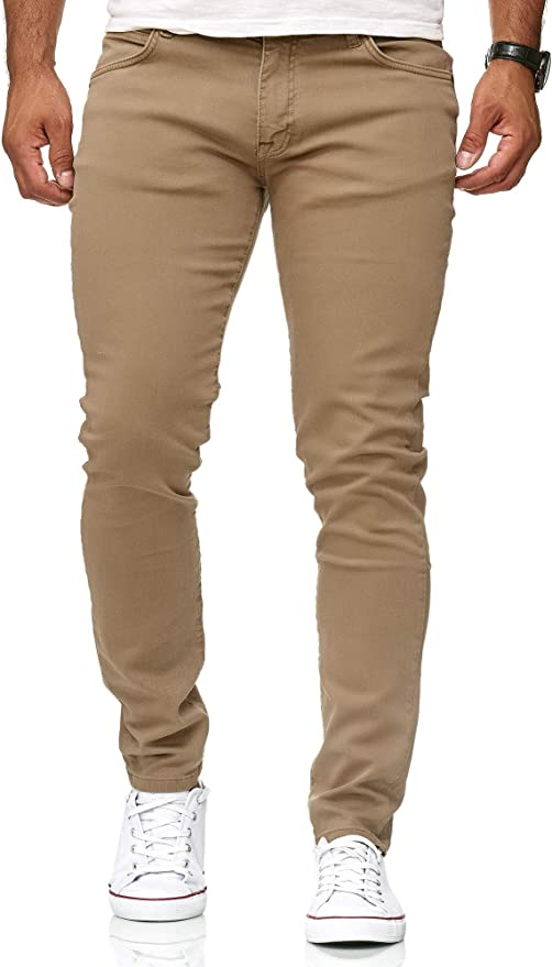 TALLA 38W / 34L. Red Bridge Jeans Slim-Fit Básico Chino de Hombres Denim Elásticos Moda Vaquero