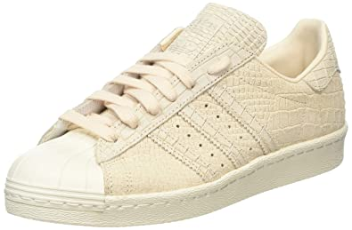 official photos 14b6b dcc27 adidas Superstar 80s, Baskets Hautes Femme, Beige Linen Off White, 36 EU