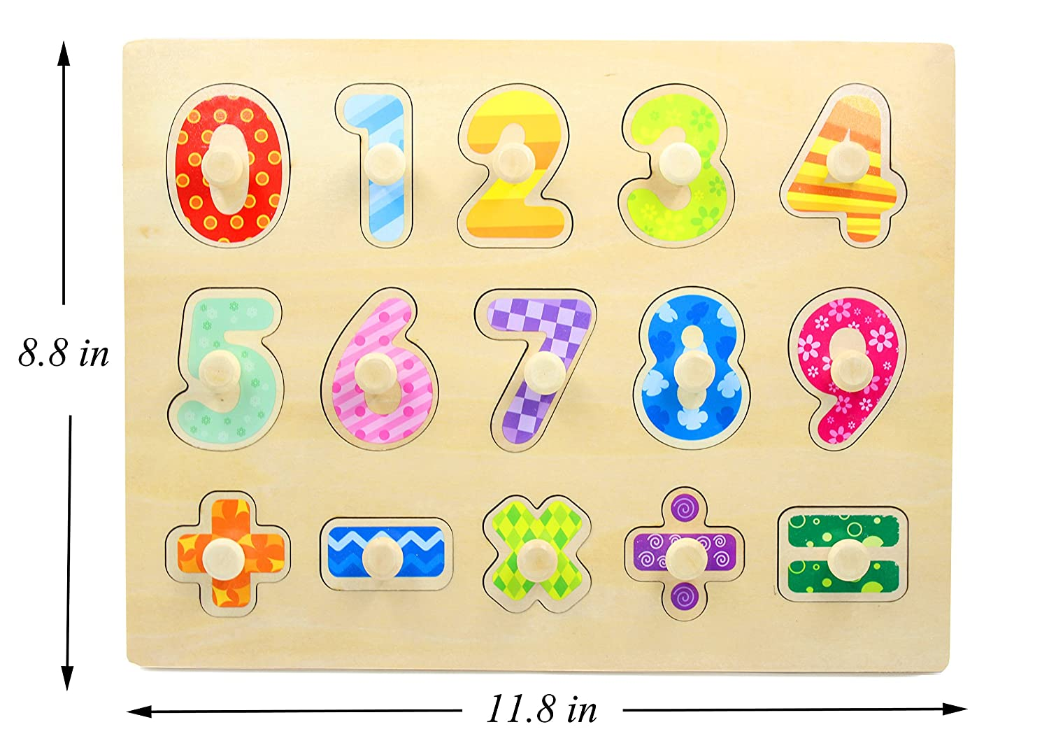 Amazoncom Lam Wooden Number Puzzle Board Toy For Baby Toys Games
