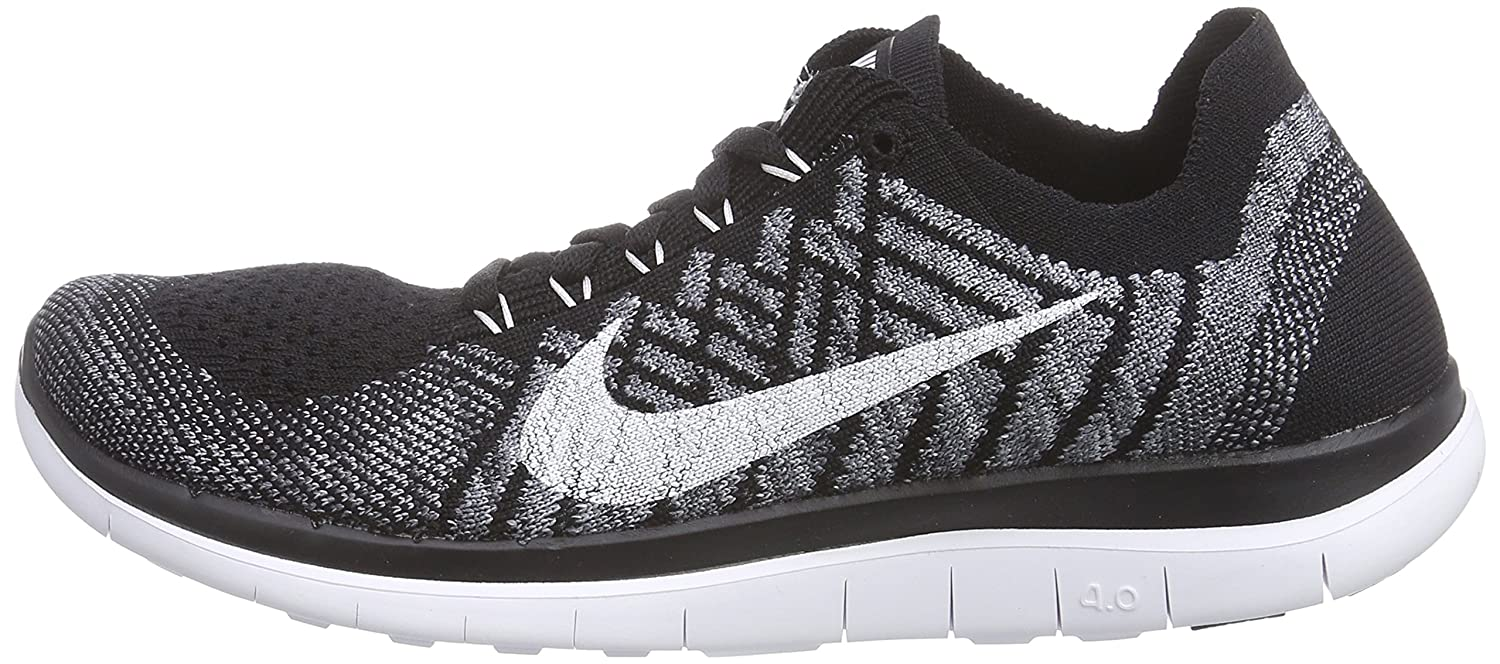 nike free 4.0 flyknit women's black and white nz