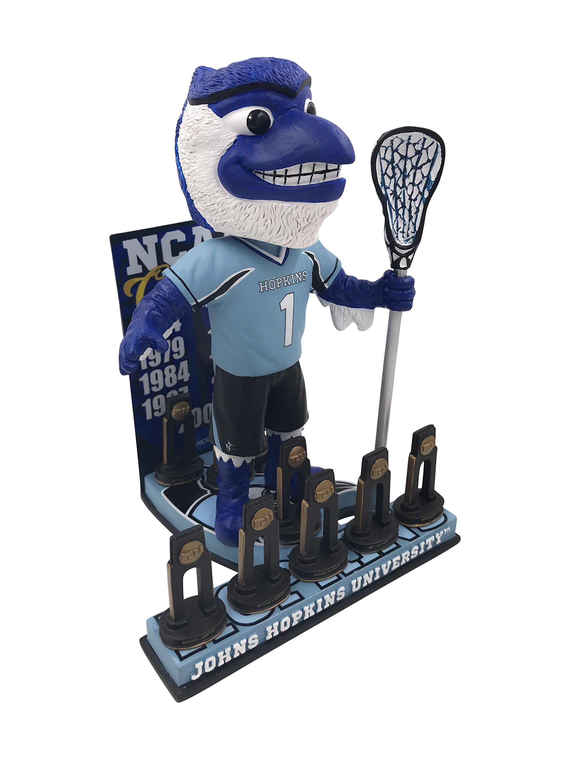 Blue Jay Johns Hopkins University Men's Lacrosse National Champions Bobblehead by Forever Collectibles (Image #2)